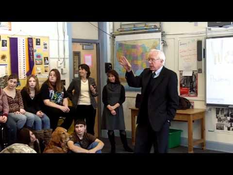 Bernie Sanders at Poultney High School