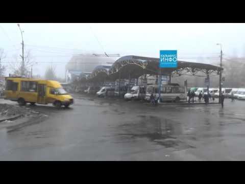 Донецк сегодня! Крытый рынок, бул. Шевченко, туман в городе