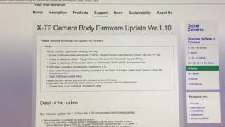 *!* YES!!  NEW FUJIFILM X-T2 FIRMWARE 1.10 OUT NOW!!