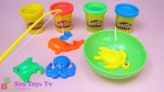 Catching Fishes and Learn Numbers Learn Colors I 4 Colors Play-Doh