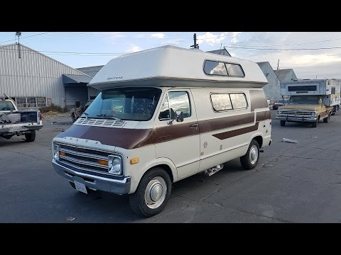 1978 Dodge Burning Man Santana Sportsman Camper RV Van for sale. RARE!