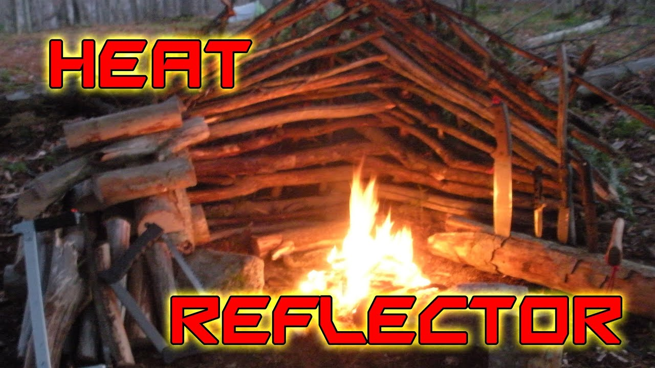 How To Build A Fire Heat Reflector For Cold Weather