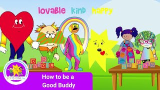 Rainbow Rootie Teaches How to Be a Good Buddy | CJ's Land of Love and Joy