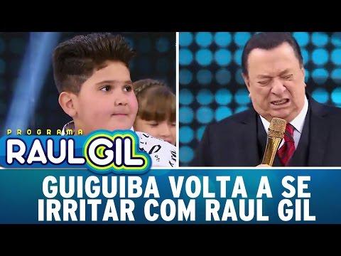 Guiguiba volta a se irritar com Raul Gil e causa climão | Programa Raul Gil (29/04/17)