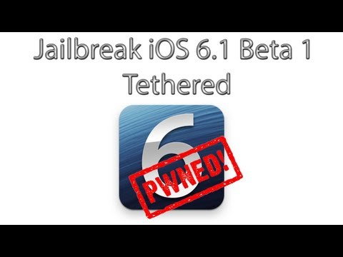 How To Jailbreak iOS 6.1 Beta 1 Using Redsn0w 0.915b3 (Tethered)