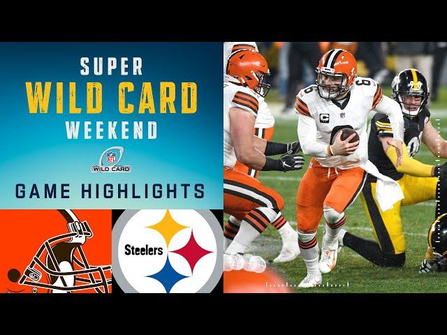 Browns vs. Steelers Super Wild Card Weekend Highlights  NFL 2020 Playoffs