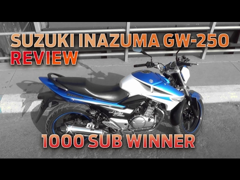 Suzuki Inazuma GW-250 Review - 1000 Subscriber Giveaway Winner Announced!