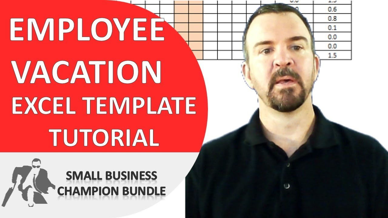 Vacation Planner Excel Template - Employee Vacations - YouTube