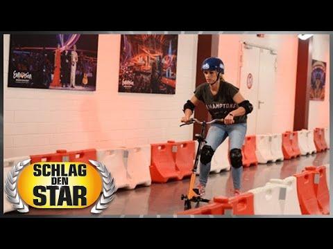 Spiel 1: Tri-Scooter - Larissa Marolt vs.Annica Hansen - Schlag den Star