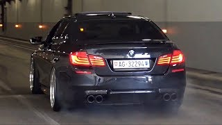 BEST of BMW M5 F10 Twin Turbo V8 Exhaust Sounds - iPE, Akrapovic & More!