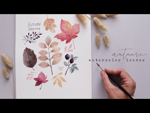 Every Watercolor Leaf You'll Ever Need AUTUMN EDITION