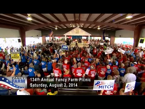 • Alison Grimes & Mitch McConnell • Fancy Farm • Kentucky • 8/2/14 •