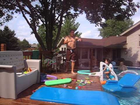 More pool fun at the Riddle's.