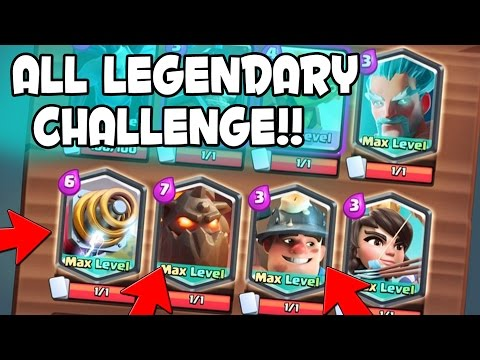 Clash Royale - ALL LEGENDARY DECK CHALLENGE w/ Reversal!   Sparky. Lava Hound. & Miner Gameplay
