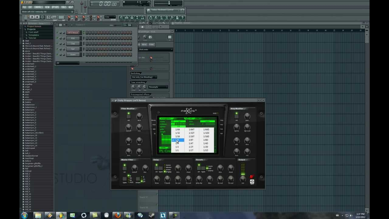 how to add presets to plugins in fl astuido 12
