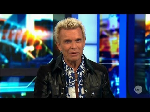 Billy Idol Australian Tv Interview LIVE + More March 23, 2015