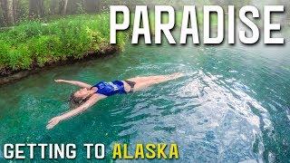 FINALLY IN ALASKA | CLOSE ENCOUNTER WITH MAMA MOOSE | LIARD HOT SPRINGS