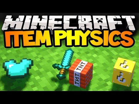 Minecraft Mods ITEM PHYSICS New Drop Animation 3D Items + More Mod Showcase 1.7.2
