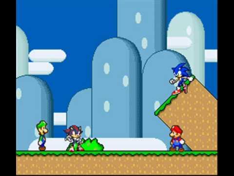 Sonic et Luigi Luigi,shadow,mario,and Sonic's