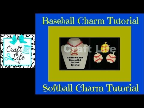 Rainbow Loom Baseball Softball Tennis Ball Charm Tutorial