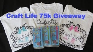 ***CLOSED*** Craft Life 75K Giveaway ~ Rainbow Loom Upgrade Kit & T-Shirt