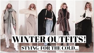 COZY WINTER OUTFIT IDEAS! How to style for cold weather