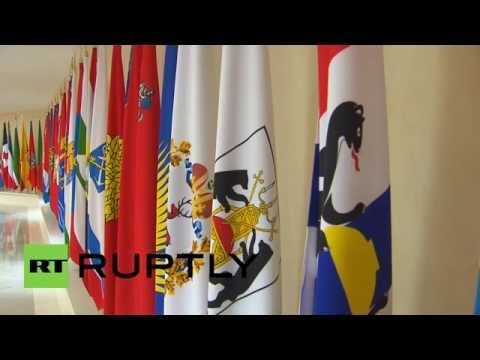 Russia: Flags of Crimea and Sevastopol join the panoply of the Russian Federation Council