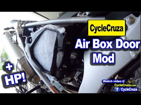 WR250R Ultimate Air Box DOOR Mod - More Horsepower!