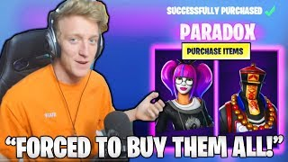 Tfue FORCED To React & *BUY* NEW Lace & Paradox EPIC Skins..! (Fortnite Moments)