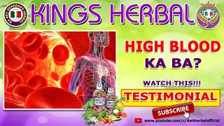 High Blood | KINGS Herbal Testimonial