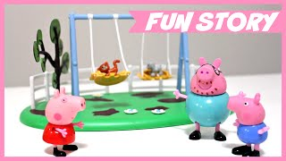 PEPPA PIG Swing Slide and See-saw PLAYGROUND PLAYSETS