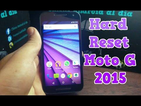 Hard Reset Moto G 2015   Restablecer de fábrica   Memo Castillo