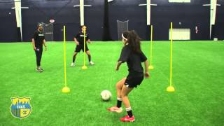 NXTsoccer Training First Touch 4 post drill