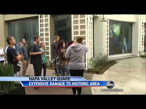 Earthquake Damage to Popular Napa, California, Tourist Destinatio