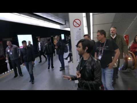 Conchita Wurst takes the metro to #Eurovision Grand Final