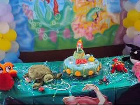 decoração de festa infantil decor kids pequena sereia