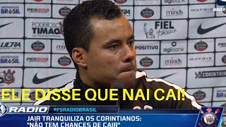 """CRUZEIRO 1 X 0 CORINTHIANS - Jair Ventura Coletiva """"Não Cai!"""" FSR 15/11"""