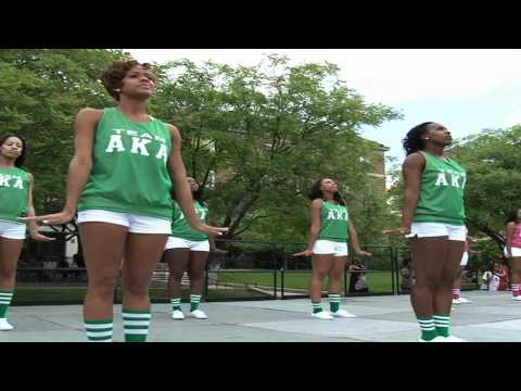 The sisters of Alpha Kappa Alpha Sorority Inc's Theta Nu chapter perform at the University of Maryland College Park Block Show. Special cameo appearance by A...