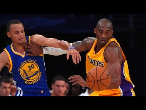 Kobe Bryant Magic Steal and Dunk Over Steph Curry_Golden State vs Lakers 120-105 9.10.2014
