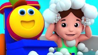 Bath Song   Bob The Train Videos For Babies   Preschool Rhymes For Kids