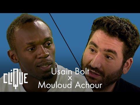 Usain Bolt apprend le créole jamaïcain à Mouloud Achour
