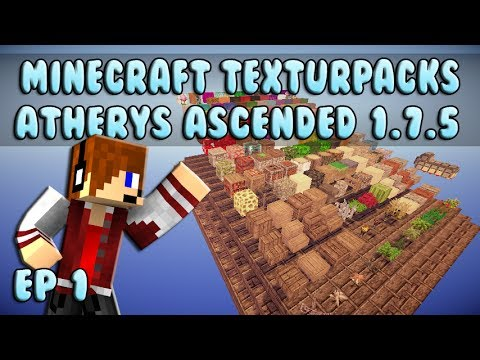 Minecraft ResourcePacks Reviews: Atherys Ascended 1.7.5 Ep 1