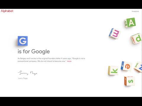 Alphabet Inc To Replace Google; Sundar Pichai Becomes CEO