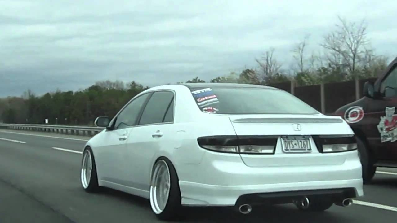 Hellaflush Becky Accord On Work Wheels Cruising In The Highway Youtube