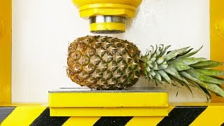 Pineapple Apple VS Hydraulic Press