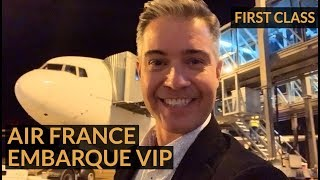 AIR FRANCE FIRST CLASS - VIP boarding - La Première lounge [ENG SUB]