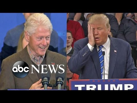 Donald Trump Keeps Up the Heat on Bill Clinton