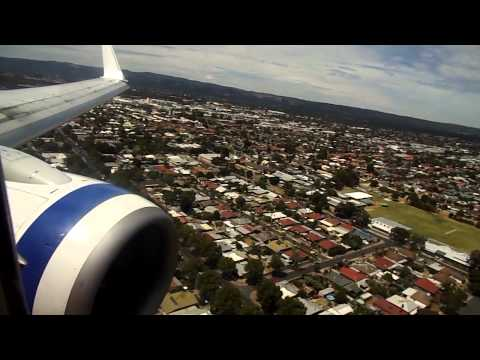 Virgin Australia landing into Adelaide Airport from Perth