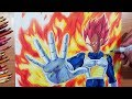 Drawing VEGETA Super Saiyan GOD! From The Movie: Dragon Ball Super: Broly!