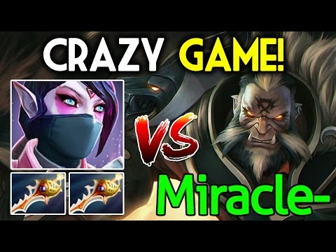 Miracle- [Lycan] VS Templar Assassin with 2 Rapier - Crazy Game Dota 2 7.05